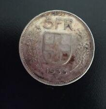 Moneta argento Svizzera del 1933