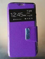 Funda modelo libro tapa iman morada Sony Z1 mini Xperia lote 4 unidades