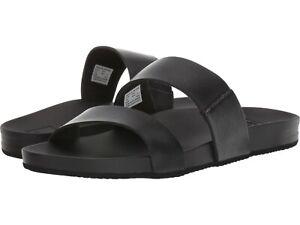 Women's Shoes Reef CUSHION BOUNCE VISTA Vegan Slide Sandals RF0A3OKS BLACK