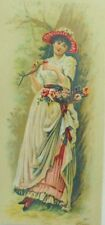 Victorian Floral Bookmark Colgate & Co's Perfume Toilet Soap Lovely Lady P77