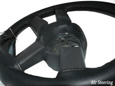 FITS VOLVO C70 MK1 1997-2005 REAL BLACK ITALIAN LEATHER STEERING WHEEL COVER NEW