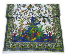 Bohemian Indian Tree Life Poster Baby Quilt Throw 100%Cotton Reversible Blanket