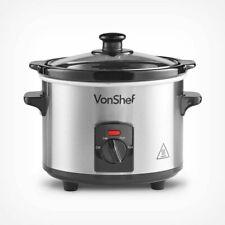 Small Mini Slow Cooker Pot Food Veg Warmer 3 Settings Compact Healthy Cooking UK