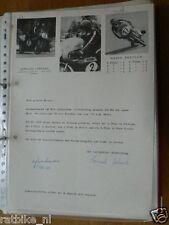 HT072-ORIGINAL AUTOGRAPH GERHARD CZERMAK 50 KREIDLER,125 MAICO,AUTOGRAMM,1972