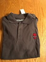 LICENSED MARVEL COMICS SPIDERMAN Embroidered S/S GRAY POLO SHIRT NWT Avengers