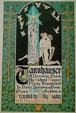 """1911 ART BOOK Wagner """"TANNHAUSER"""" Art Nouveau POGANY Jugendstil CALF Leather"""
