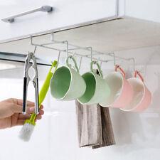 Iron Hanging Cup Holder Pan Hanger Kitchen Storage Utility Cookware Hook Rack YY