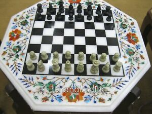 """15 Inches Marble Coffee Table Top Hand Crafted Game table with King Size 2.5"""""""