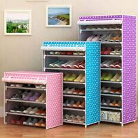 Shoe Rack Shelf Storage Closet Organizer Cabinet 6 Layer Bedroom Storage Holder