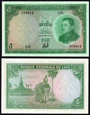 Pick #9b 5 Kip 1962 Laos Choice Uncirculated