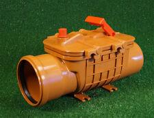 Doppelt Rückstauverschluss DN110 Rückstauklappe Rattenschutz für Abwasserrohr