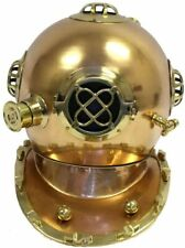 Antique Marine U.S Navy Mark IV Brass & Copper Plating Diving Helmet Scuba Gift