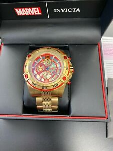 Invicta Marvel Ironman Men's 52mm Limited Edition Gold Chronograph Watch 26799