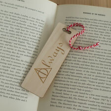Harry Potter Always Deathly Hallows wooden bookmark Laser engraved L185