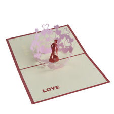 3D Card Couple Birthday Wedding Valentine Anniversary Greeting Cards W/ Envelope