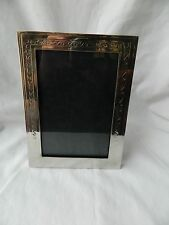 "Egyptian Brass Silver Plated Arabic Design Picture Frame 8""X6"" Sale!!!"