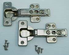 Lot Of 2 Grass Hinges 350B Clip On 110° Plates, Screws, Frameless Face Cabinet