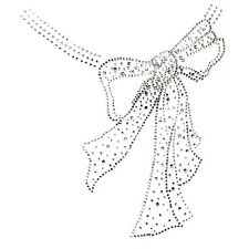 Rhinestone Iron On Transfer Hot fix Motif Round Ribbon deco Fashion Design
