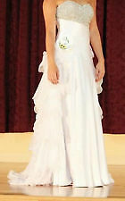 Mac Duggal Prom/Pageant Gown: White, Size 0