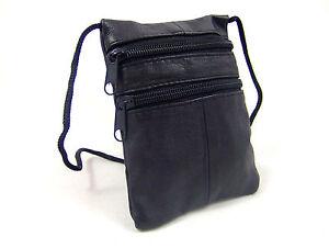 NEW LEATHER STRING NECK PURSE SHOULDER BAG TRAVEL BAG TRAVEL POUCH ENVELOPE BAG