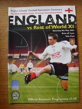 08/05/2004 England Schools U18 v Rest Of The World U18 XI [At Aston Villa]