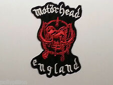 ROCK PUNK METAL MUSIC SEW / IRON ON PATCH:- MOTORHEAD (c) ENGLAND RED WARPIG