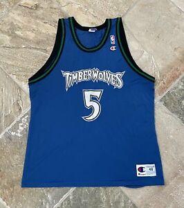 Vintage Minnesota Timberwolves William Avery Champion Basketball Jersey, Size 48