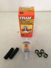 """Fram G2 5/16"""" Plastic Inline Gas/Fuel Filter & Hoses/Clamps fits G12 GF61 33002"""