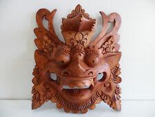Barong Maske, handgeschnitzte Holzmaske, Bali, Indonesien
