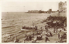 More details for somerset- old pier from anchor head, weston-super-mare. rp postcard 1931.
