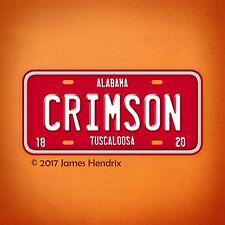 University of Alabama Crimson Tide NCAA  License Plate Vanity Auto Tag