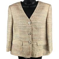 NWT Kasper Multicolor Button Front Jacket Women's Size 14P