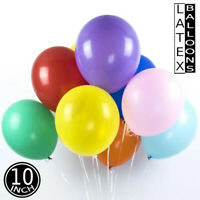 "10/25/50/100 pk ALL COLOUR Plain Latex balloons 10"" INCh birthday party ballons"