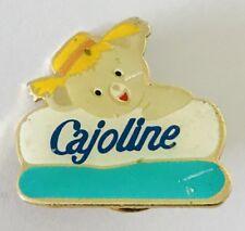 Cajoline Brand Farmer Teddy Bear Pillow Advertising Pin Badge Vintage (C17)