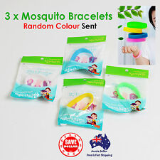 3PCS Anti Mosquito Insect Repellent Wrist Hair Band Bracelet Bug Camping Outdoor