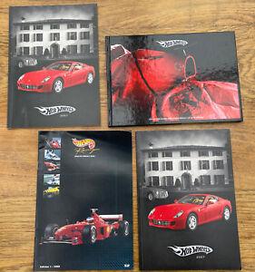 4 x Mattel Hot Wheels Colour catalogues 1999 2007 2009 F1 Ferrari Elite Batman