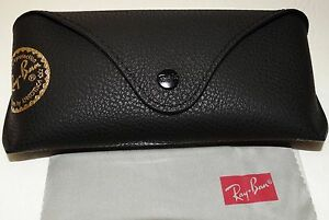 Ray ban Brand new leather case only Black with cleaning cloth
