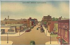 View on Main Street in Aberdeen SD Postcard