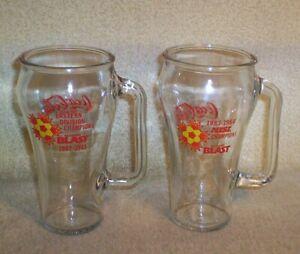 2 CHAMPIONS BALTIMORE BLAST MISL SOCCER TEAM GLASS COCA-COLA COKE MUGS 82-83-84