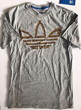 NUOVO Adidas Originals esploso quando PRO legno nero LOGO T shirt NUOVA con etichetta Taglia XS RARE