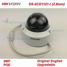 Original Hikvision DS-2CD1121-I (2.8mm) POE IR IP67 IK10 2MP Network Dome Camera
