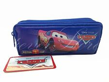 Disney Cars Mcqueen Blue Pencil Pouch - Zippered Pencil Pen Crayon Case