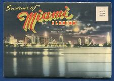 Miami Beach river Biscayne Blvd Orange Bowl Bay Front Park postcard folder