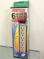 NEW 6 OUTLET SURGE PROTECTOR POWER STRIP SAFETY CIRCUIT BREAKER HOME