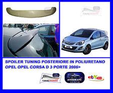 Alettone Spoiler Tuning  Posteriore Opel Corsa D 3 Porte 2006> Accessori Auto