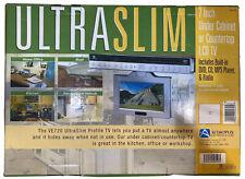 "AUDIOVOX ULTRASLIM Kitchen 7"" TV RADIO AM/FM Under Cabinet Boat Vehicle Lcd Mp3"