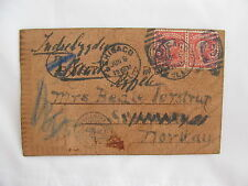 cover USA sweet home pair stamps Chicago to Norway 1907
