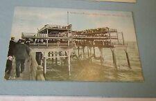 1910 Young's Million Dollar Pier Atlantic City New Jersey Postcard Town Postmark