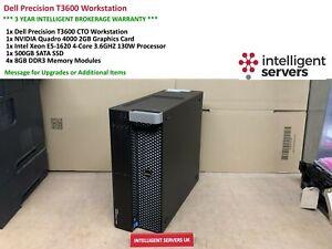 Dell T3600 Workstation, E5-1620 3.6GHz, 32GB, 500GB SSD, 1TB HDD,  Quadro 4000