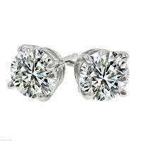 1/4 ct. White Sapphire Stud Earrings ~ 14k White Gold ~ VERY IMPRESSIVE!